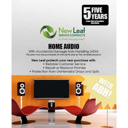 New Leaf PLUS Year Home Audio Service Plan Accidental Damage Coverage for Drops Spills Products Reta 105 - 410