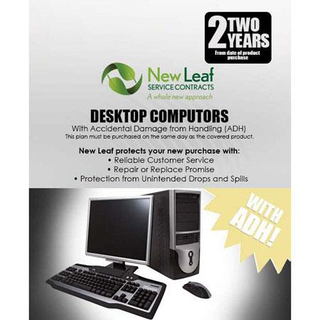 New Leaf PLUS Year Desktop Computer Service Plan Accidental Damage Coverage for Drops Spills Product 166 - 475