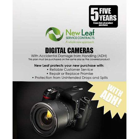 New Leaf PLUS Year Digital Camera Service Plan Accidental Damage Coverage for Drops Spills Products  105 - 423