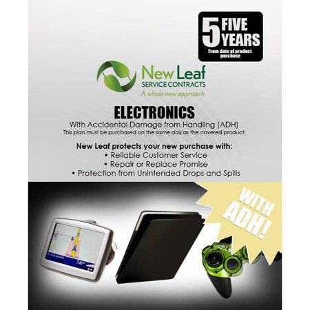 New Leaf PLUS Year Electronics Service Plan Accidental Damage Coverage for Drops Spills Products Ret 98 - 606