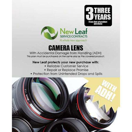 New Leaf PLUS Year Camera Lens Service Plan Accidental Damage Coverage for Drops Spills Products Ret 129 - 336