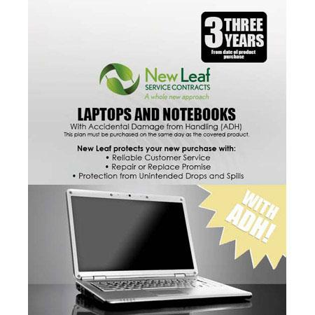 New Leaf PLUS Year LaptopNotebook Service Plan Accidental Damage Coverage for Drops Spills Products  247 - 756