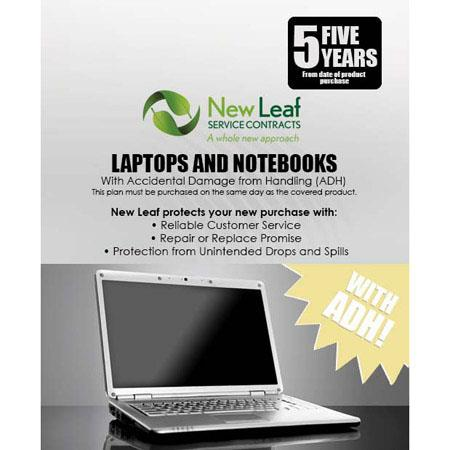 New Leaf PLUS Year LaptopNotebook Service Plan Accidental Damage Coverage for Drops Spills Products  105 - 606