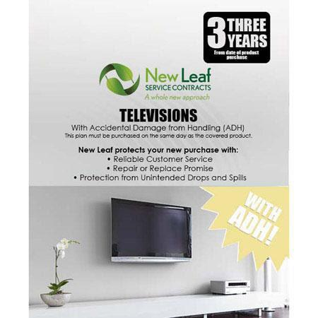 New Leaf PLUS Year Television Service Plan Accidental Damage Coverage for Drops Spills Products Reta 195 - 635