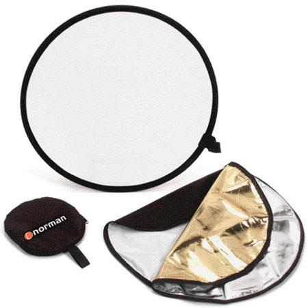 Norman CRKCollapsible Disc Reflector Translucent Silver Gold 45 - 536