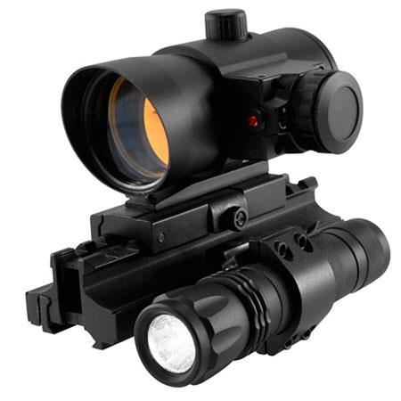NcSTARSpecial Operations Riflescope Matte Dot Reticle Mounted Laser and Tactical Lumen LED Flashligh 194 - 256