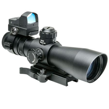 NcSTARMark III Tactical Riflescope Matte Illuminated Sniper Reticle Target Turret Quick Release Moun 114 - 424