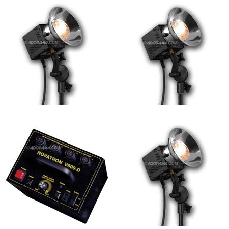 Novatron VD ws Fan Cooled Head Convertable Photo Digital Strobe Lighting Kit Stands Umbrellas Wheele 129 - 538