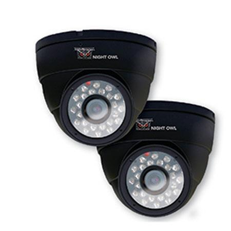 Night Owl Hi Resolution TVL Indoor Security Dome Cameras of Night Vision and Audio Pack 101 - 448