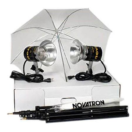 Novatron CL Constant Light Unit Quartz Kit Bulbs Stands Cardboard Carry Case 48 - 685