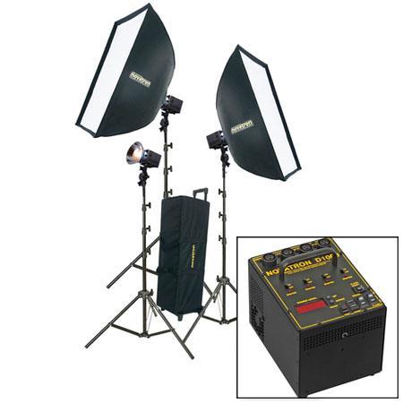 Novatron D ws Head Power Pack Kit Wheeled Case Soft Boxes Light Stands 132 - 7