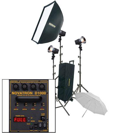 Novatron D ws Head Power Pack Kit Wheeled Case Umbrella SoftboLight Stands 67 - 679