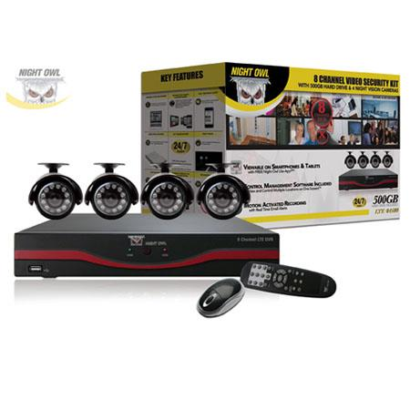 Night Owl Channel LTE D DVR GB Hard DriveIndoorOutdoor Night Vision Cameras and Free Night Owl Lite  55 - 372