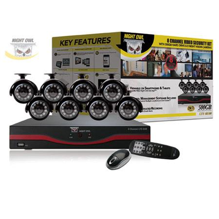 Night Owl Channel LTE D DVR GB Hard DriveIndoorOutdoor Night Vision Cameras and Free Night Owl Lite  43 - 100