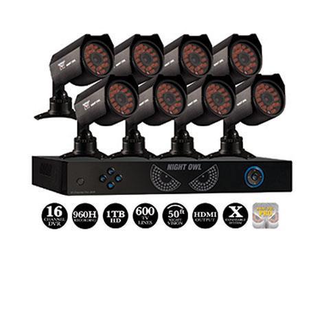 Night Owl Channel DVR TB HDDTVL Hi Resolution Cameras Audio Enabled HDMI Output H Recording USB Nigh 69 - 622