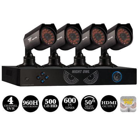 Night Owl Channel DVR GB HDDTVL Hi Resolution Camera Audio Enabled H Recording HDMI Output USB Night 288 - 285