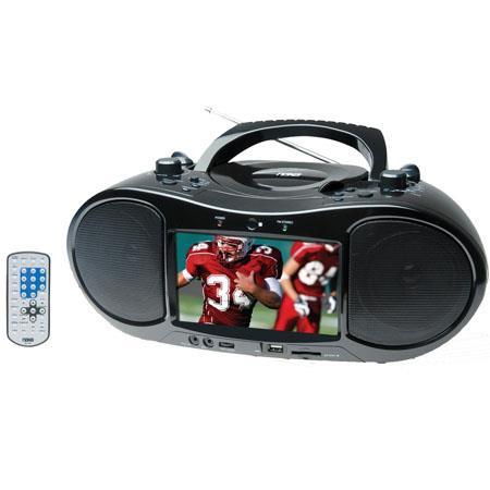 Naxa NDL TFT LCD Display Portable DVD Player AMFM Stereo Radio USB Input SDMMC Card Slot ACDC Power 348 - 143