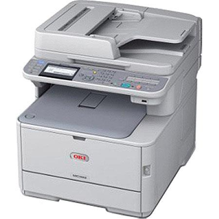 OKI Data MCw Wireless MF Color Laser Printer ppm Colorppm Monodpi Sheet Input Tray USBEthernet Print 168 - 471