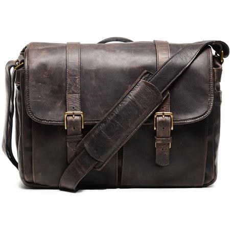 ONA The Brixton Camera and Laptop Messenger Bag Dark Truffle Leather 54 - 372