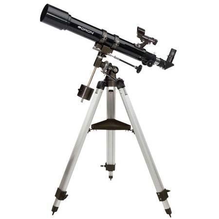 Orion Observer Equatorial Refractor Telescope Kit Eyepieces Tripod Mount 269 - 415