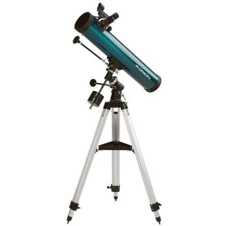 Orion SpaceProbe Equatorial Reflector Telescope Kit Eyepieces Tripod Equatorial Mount and Software 149 - 589