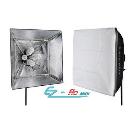Interfit Photographic Ez Flo Fluorescent Lighting Kit Heads Ez Fit Softboxes Adapters Watt lamps Lig 46 - 718