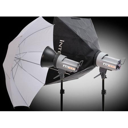 Interfit Photographic ETwo Head SoftboUmbrella Kit ws Monolights Stands SoftboUmbrella Carry Case FR 418 - 49