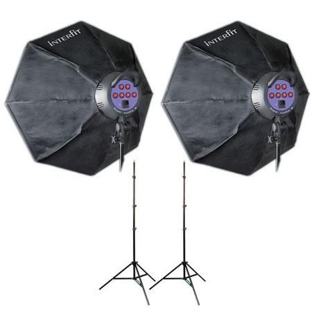 Interfit Photographic INT Super Cool Lite MKII Twin Head Kit WLampsOctoboSoftboxes 140 - 698