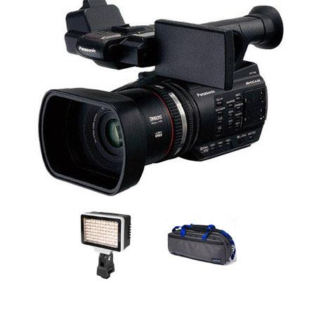 Panasonic AG AC AVCCAM HD Handheld Camcorder Bundle Ledpro Z Bicolor On Camera LED Light CamRade CB  30 - 571