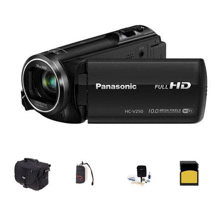 Panasonic HC V p Full HD Camcorder MPOptical Bundle Slinger Photo Video Bag GB Class SDHC Card Clean 101 - 505