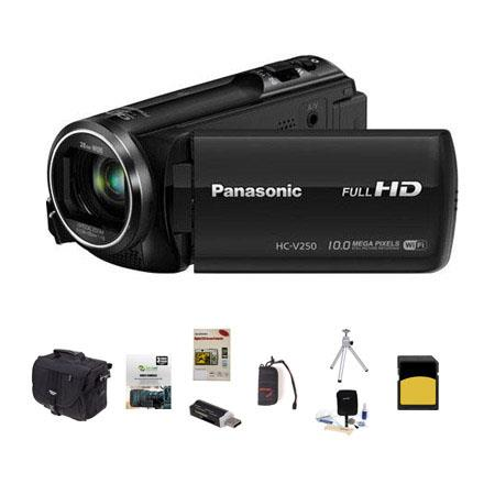Panasonic HC V p Full HD Camcorder MPOptical Bundle Slinger Photo Video Bag GB Class SDHC Card New L 95 - 366