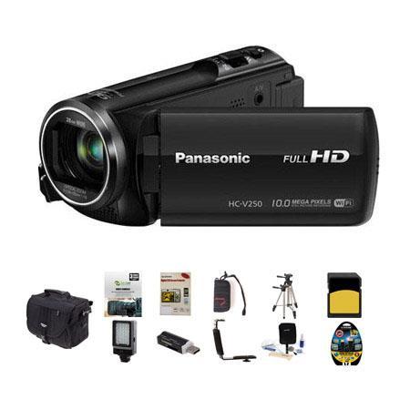 Panasonic HC V p Full HD Camcorder MPOptical Bundle Slinger Photo Video Bag GB Class SDHC Card New L 33 - 37