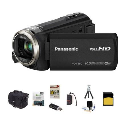Panasonic HC V p Full HD Camcorder MPOptical Bundle Slinger Photo Video Bag GB Class SDHC Card New L 271 - 169