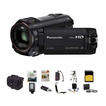Panasonic HC W Twin Camera p Full HD CamcorderOptical Bundle Photo Video Bag GB Class SDHC Card New  55 - 539