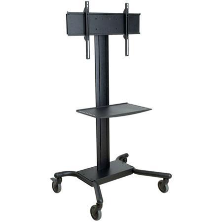 Peerless Antimicrobial Flat Panel TV Cart Metal Shelf Flat Panel Display lbs Load Capacity  58 - 71