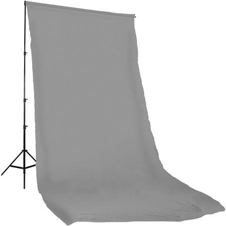 PhotofleSolid Color SeriesDyed Muslin Background Solid Grey Color 230 - 627