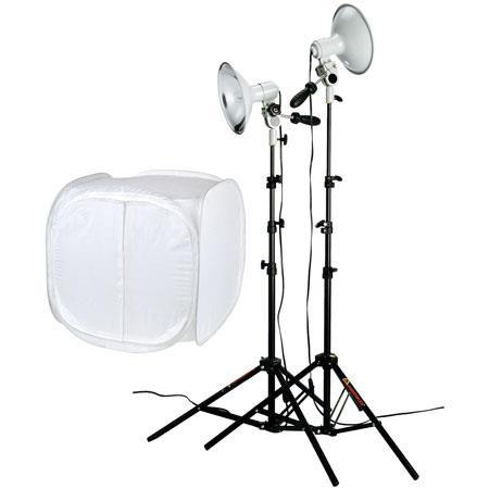PhotofleFirst Studio Product Kit First Star Lights Bulbs Stands Medium LiteIGLOO 108 - 743