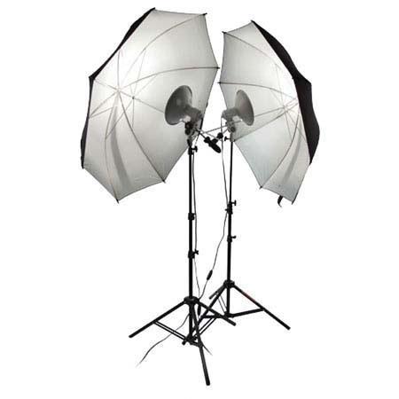 PhotofleFirst Studio Portrait Kit First Star Lights Bulbs Stands Umbrellas 89 - 603