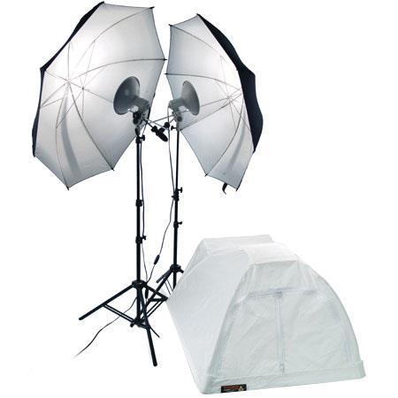 PhotofleFirst Studio Portrait Kit First Star lights Bulbs Stands Umbrellas Medium Shooting Tent 123 - 203