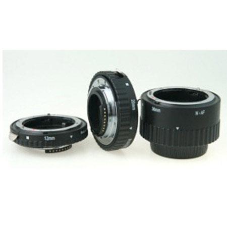 PhottiRing Auto Focus Macro Extension Tube Set Nikon Lenses Metal 144 - 208