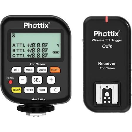PhottiOdin TTL Flash Trigger Receiver Set Canon m Distance Channels GHz Frequency sec MaSync Speed 95 - 715