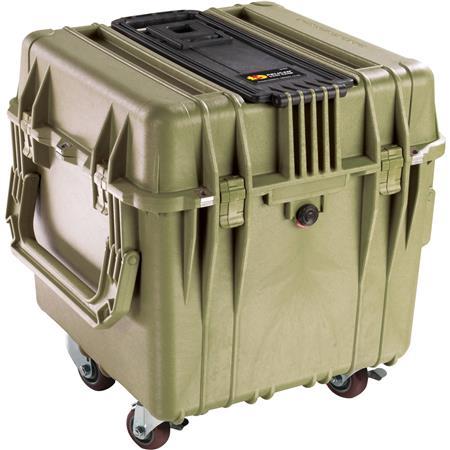 Pelican Cube Watertight Case Cubed Foam Wheels Olive Drab 93 - 514