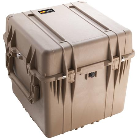 Pelican Watertight Hard Cube Case Padded Dividers Desert Tan 85 - 383