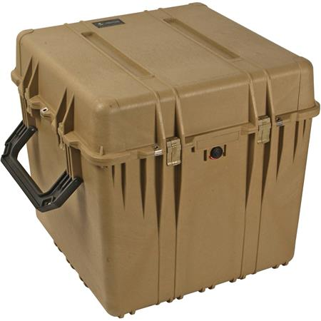 Pelican Watertight Hard Cube Case Without Foam Insert Desert Tan 140 - 246