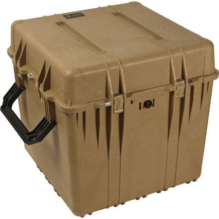 Pelican Watertight Hard Cube Case Padded Dividers Desert Tan 77 - 210