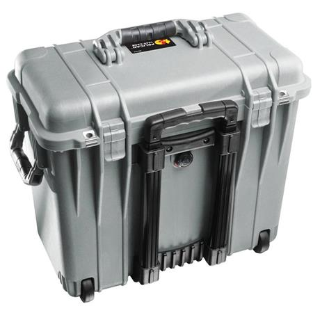 Pelican Toploader Watertight Hard Case Foam Insert Wheels Silver 211 - 313