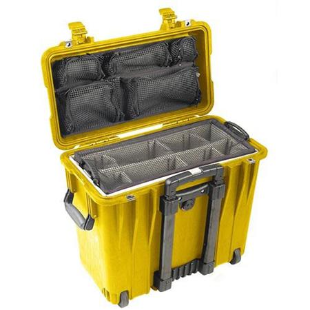 Pelican Toploader Watertight Hard Case Padded Dividers Lid Organizer Wheels  243 - 609