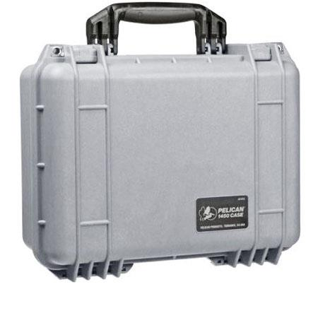 Pelican Watertight Hard Case with Padded Dividers Lid Organizer Silver 84 - 675
