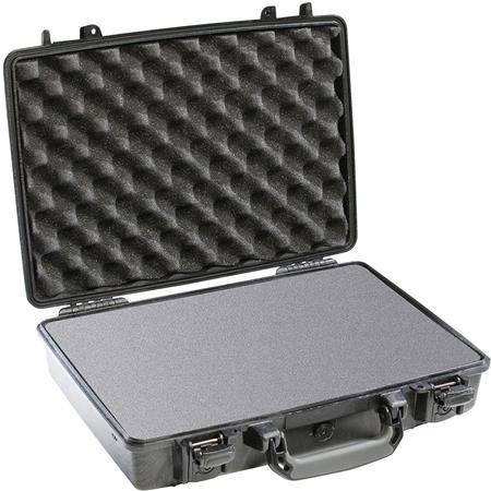 Pelican Attache Style Small Computer Watertight Hard Case Foam Insert Black 203 - 394