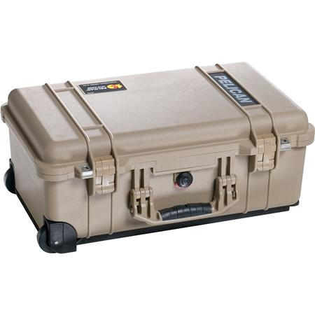 Pelican Carry On Watertight Hard Case Foam Insert Wheels Desert Tan 352 - 199